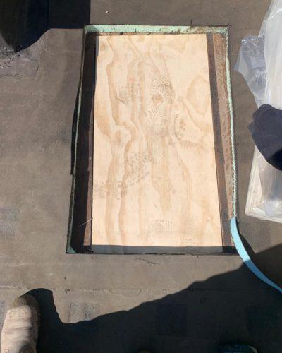 Lekkage door houtrot gerepareerd